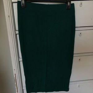 Emerald green pencil skirt
